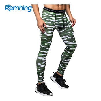 gym track pants Training Fitness man camo pants Running Clycling compression pants men