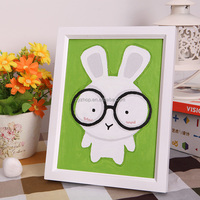 Free mind free painting rabbit cartoon oil painting diy by numbers for kids handpainted oil painting