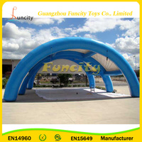 Giant Inflatable Paintball Tent For Bunker Sport Games , Blue Infltable Wedding Tent Outdoor
