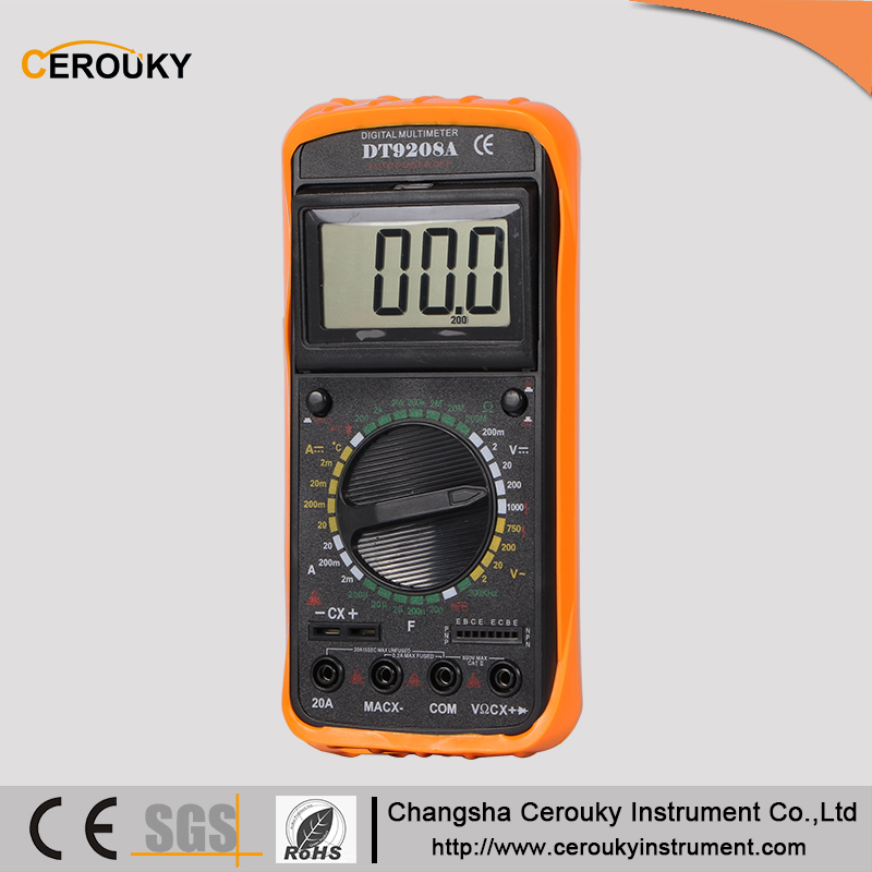 Professional digital multimeter DT9208A manual