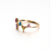 RI00155 Yiuw WT fashion simple s925 sterling silver gold-plated jewelry, triangle color zirconium ring wholesale