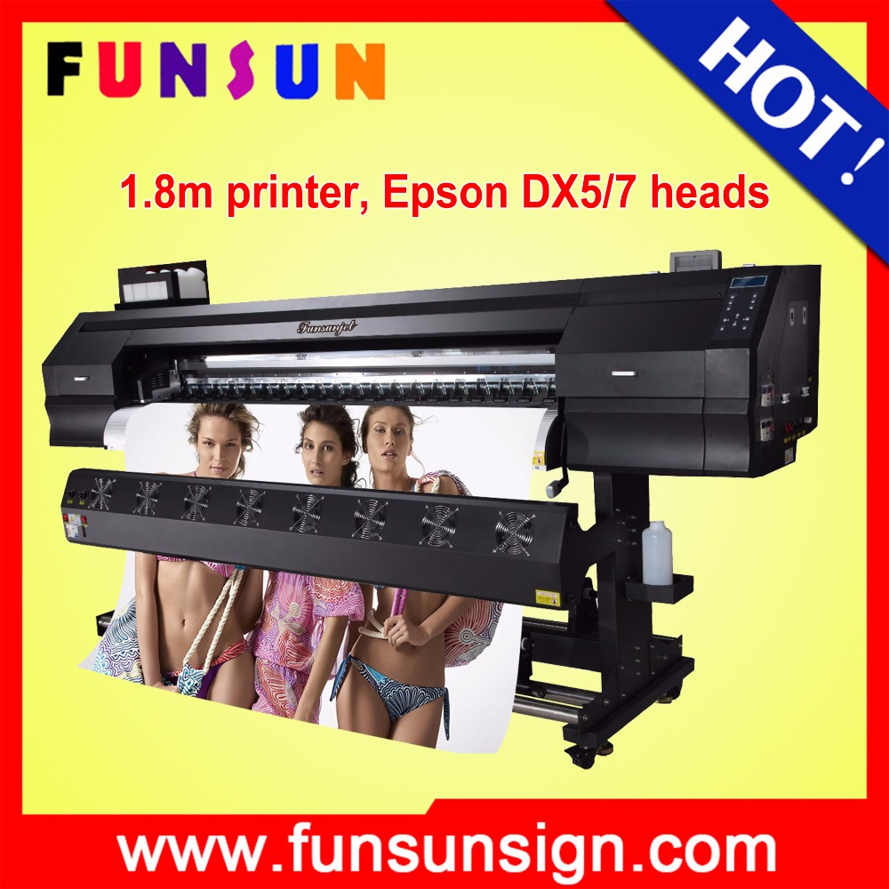English Screen 6ft digital plastic film printer with two Dx5 head