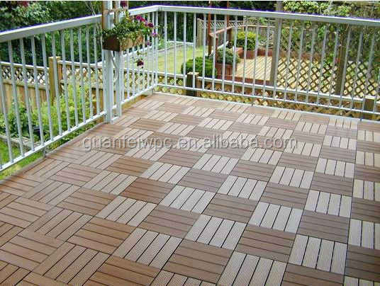 high density waterproof wpc garden decking tiles
