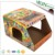Colored corrugated cardboard shipping box for crash helmet