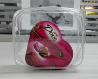 Customized printed handle plastic cosmetic bags plastic PVC bag for makeup packing