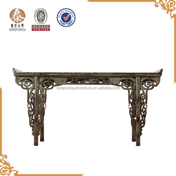 Chinese Antique Rustic Furniture Long Side Tables