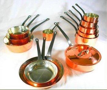 Baumalu 13 Pc Copper Pots And Pans Cookware Set 2 Mm