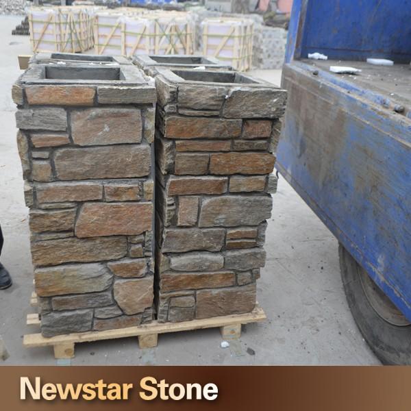 porte d corative ardoise pierre naturelle colonne pilier id de produit 60132697590 french. Black Bedroom Furniture Sets. Home Design Ideas