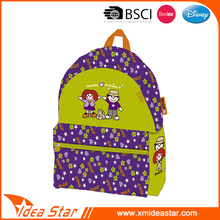 High quality durable polyester high school student backpack