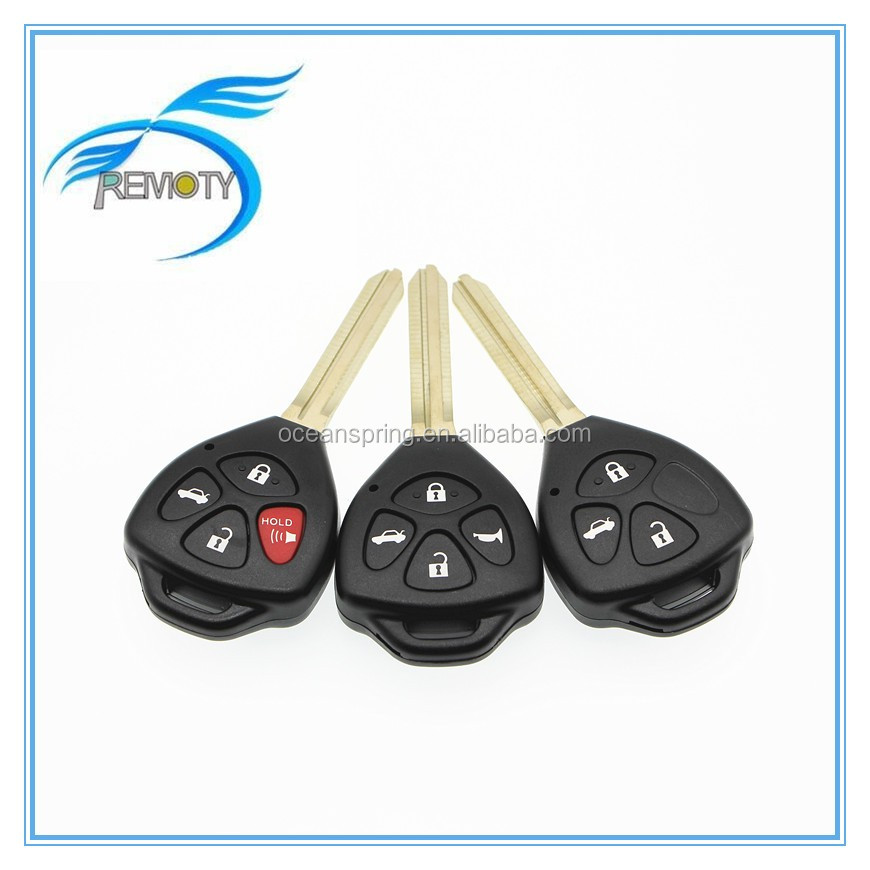 Toyota car keys remote key with 433mhz