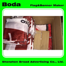 Trade show flag and banner printing polyester pakistan table flag