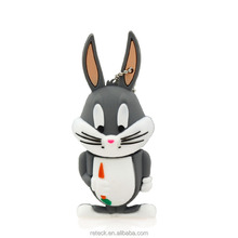 Free sample Nice design pvc cute animal usb flash drive 8gb
