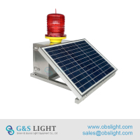 ICAO Medium Intensity Type B Solar Aviation Obstruction Lights/aircraft warning lights