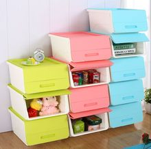 Clear Plastic Adjustable Multi-Functional 3 tier Stackable home Storage Box with dividers
