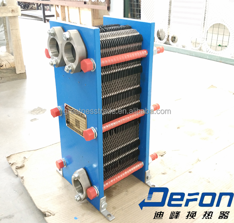 Stainless steel plate oil cooler radiator for equipment detachable heat exchanger