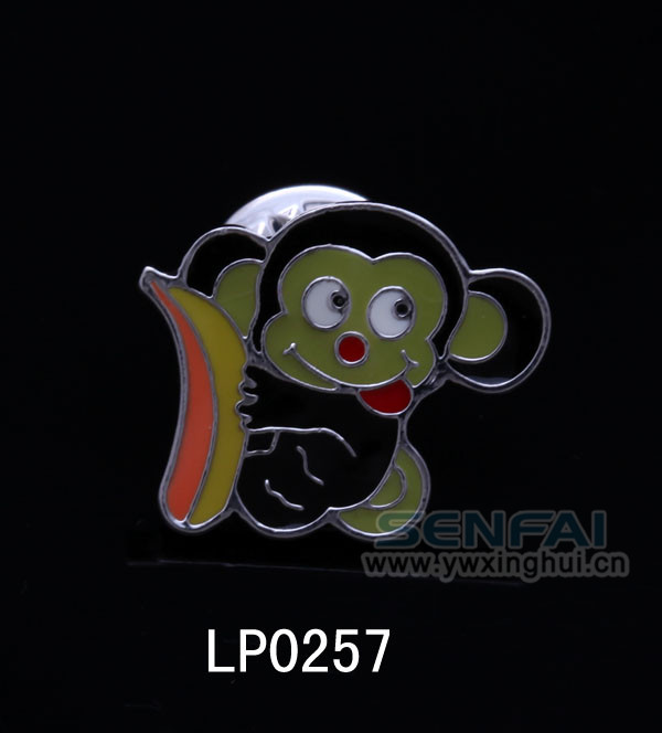 Monkey & Banana Enamel Lapel Pin for Kids Chinese Suppliers