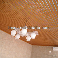Pop wooden color pvc roof ceiling design