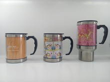 16OZstainless steel double wall promotion coffee tumbler with colorful paper inside