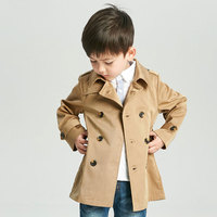 2019 Spring stylelish Amazon best selling boy's outwear jacket school girl's warm clothes children's double breasted wind coat