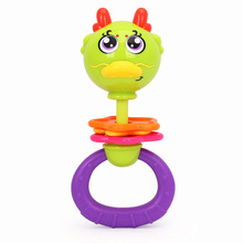 2017 Huile Cute Animal Shape Baby Hand Bell Toy Rattle Baby