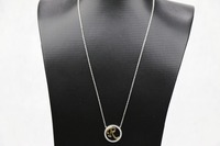 Luxury Silver Two Tone Plating Gold Initial R Silver Chain Necklace