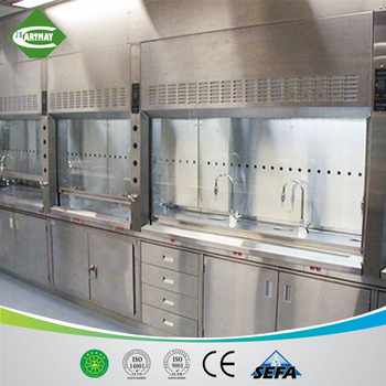 1200/1500/1800mm stainless steel laboratory chemcial fume hood