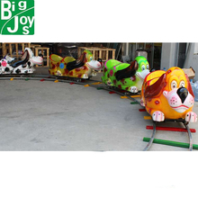 cartoon backyard train for sale, 14 seats children train ride for backyard