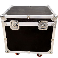 hard abs aluminum trolley case for tool box flight case with wheels