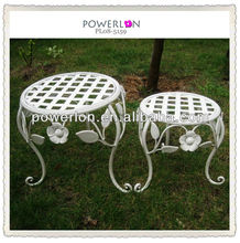 Shabby Chic Garden Pot Garden Furniture Metal Stands For Flowers