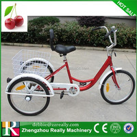 "24"" 3 Wheel Adult Tricycle Bicycle Trike With Basket"