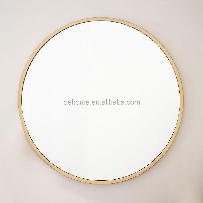 Antique Brass Metal Framed Oversized Round Mirror Buy Metal Framed