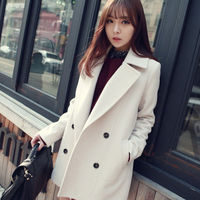 MS50140W China made knee length winter double breasted women coat