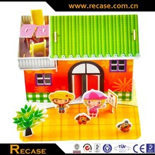 3D jigsaw puzzle model the house puzzle house puzzle DIY kid toys