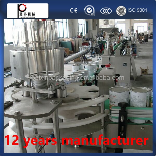 Ordinary pressure automatic milk tin can filling line