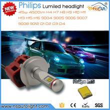 Newsun New arrival H4 H7 H8 H9 H10 H11 H13 H15 H16 9004 9005 9006 9007 9008 9012 D1 D2 D3 D4 45W 4500lm P6 led head light