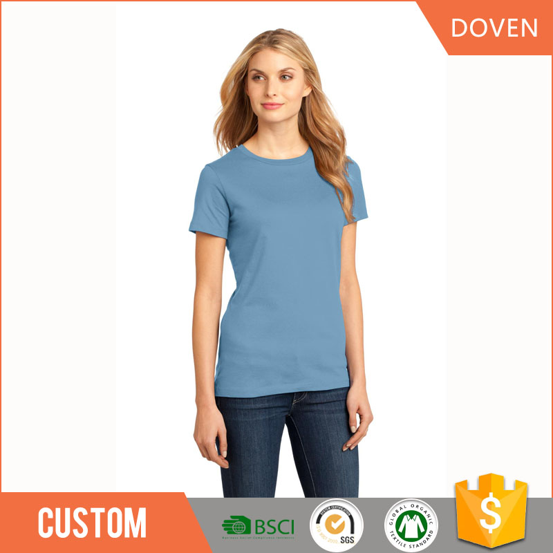 Breathable cotton women fitted printed t-shirts