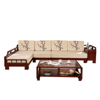 Solid wood sofa rosewood design mordern desk sofa bed set/rosewood funiture livining room sofa set