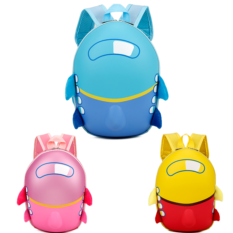 Small Aircraft Eggshell School Bag Kindergarten Bag EVA Waterproof 3D Children <strong>Backpack</strong>