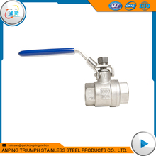 1/4'' cf8m 316 304 Stainless Steel 2 Piece threaded Ball Valve