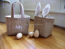 Wholesale Monogrammed Burlap Easter Basket