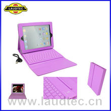 New wholesale For ipad 4 keyboard case with bluetooth and stand function