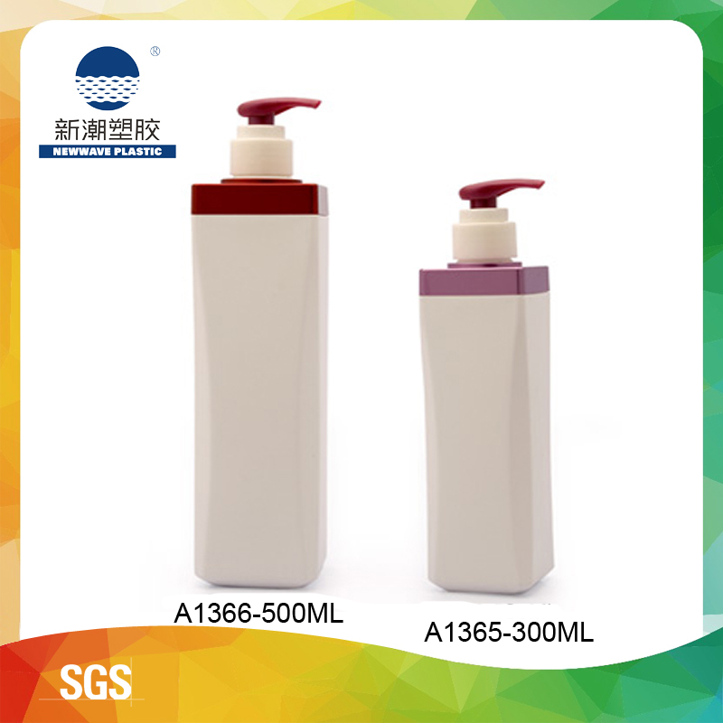 HDPE Square Body Cream bottle 300ml/500ml