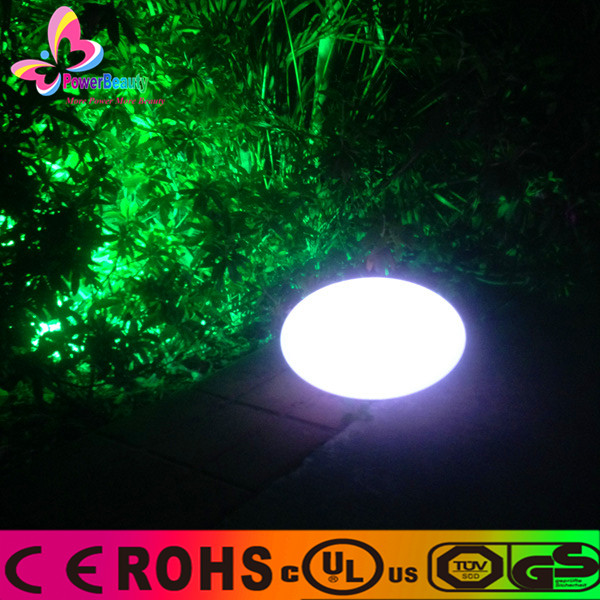 2015 hot sale remote control battery powered outdoor waterproof wireless led moon light oval ellipse ball