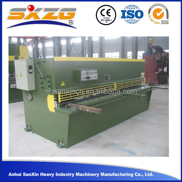 aluminum plate cnc shearing hydraulic shear machine, automatic iron copper ms nc hydraulic metal shear used cutting sheet metal