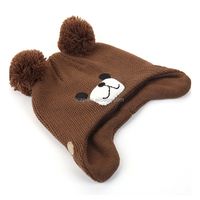 Winnie ear cap baby children knitted hat and thick hat comfortable cap