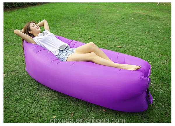 2017 Hot Inflatable Lazy Sleeping Bag Air Lightweight Inflatable Bean Bag