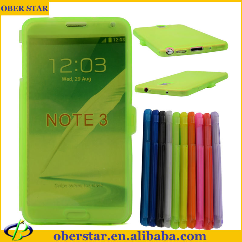 Soft Flip TPU mobile phone Case For Galaxy note3