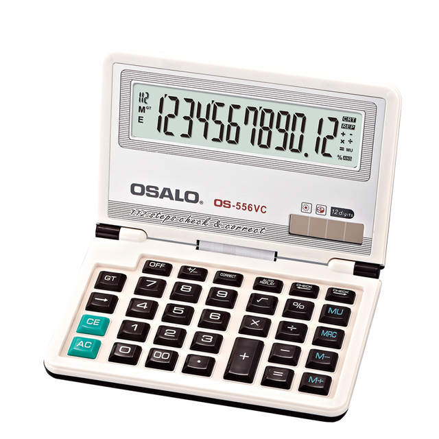 High quality 12 digits check function for business folder with calculator
