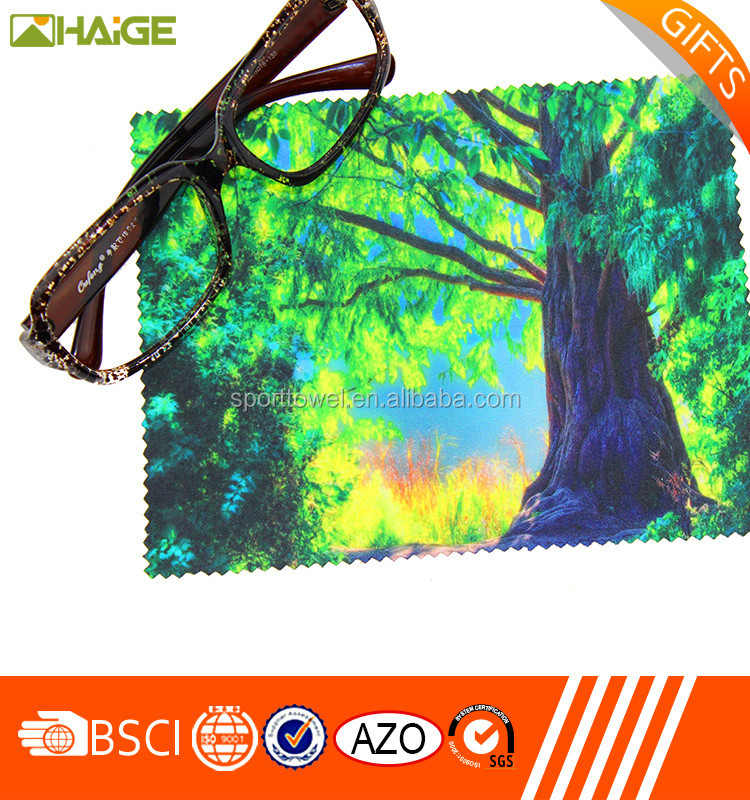 2016 Cheap Price Custom Logo Picture Printing Microfibre Lens Cleaning Cloth