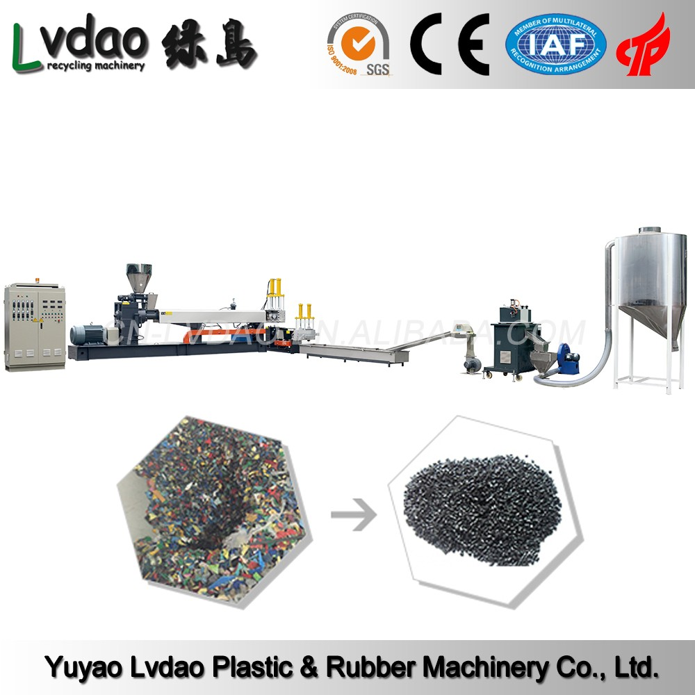 PLC control PP PS PE pet used plastic washing recycling line